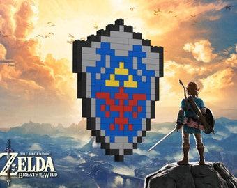 Legend of Zelda® - Hylian Shield - Lego® Pixel Model