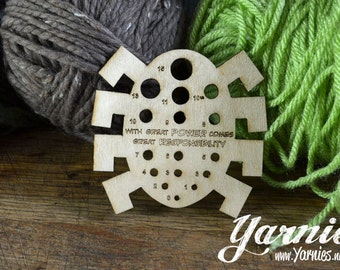 Spidey Yarnies Knit and Crochet Tool inspired by Spider-Man