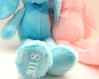 Personalize Stuffed Easter Bunny