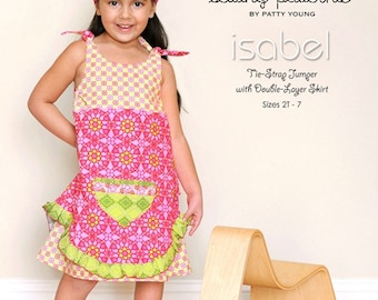 Patty Young Mod Kid Isabel Tie-Strap Double Layer Jumper Sewing Pattern
