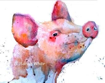 Happy pig ! Giclee Print