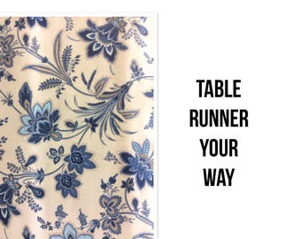 Custom Runner - Custom Table Runner Made Your Way - Cotton Print Fabric Table Runner - Easy Dining & Entertainment