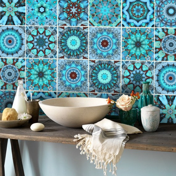 Wall Tile Decals Vinyl Sticker WATERPROOF Tile or Wallpaper