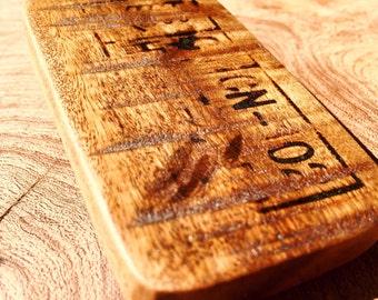 Salvaged Wood Belt Buckle