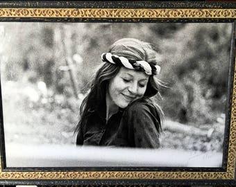 """Black-White Artistic Photograph from the Counterculture Era """"Olia"""""""