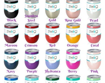 Swig 12 oz wine tumblers, Swig 12 oz wine cups, Swig wine tumblers,  personalized wine cups, personalized wine tumblers