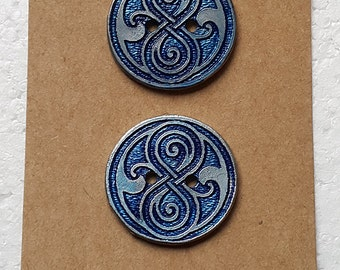 Dr Who Rasilon Sewing Buttons (Pair)