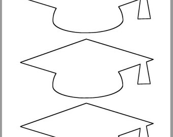 Epic image intended for graduation cap template free printable