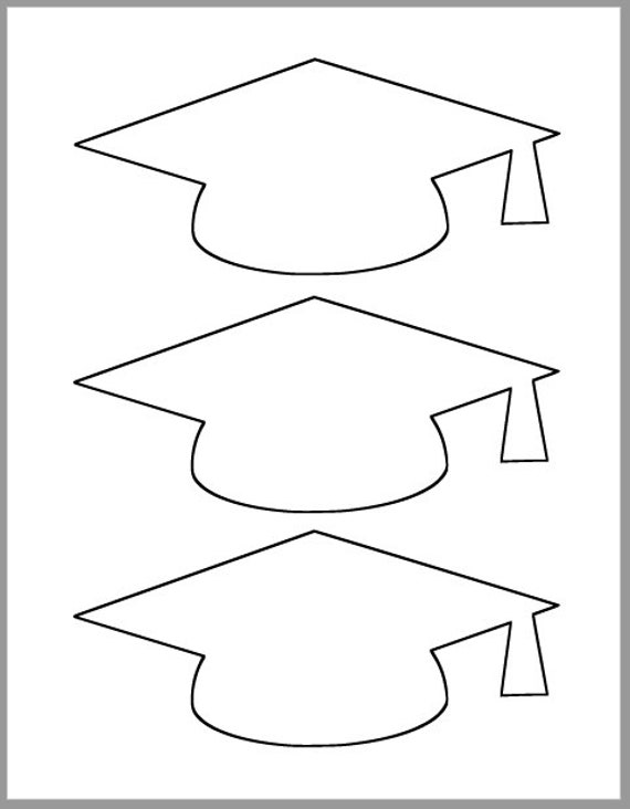 Impertinent image inside graduation cap template free printable