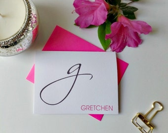Personalized Stationery, Personalized stationary,  Monogram stationery, Monogram Note Cards, Personalized Notecards, Fold Over Cards