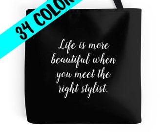 Stylist Tote, Stylist Bag, Stylist Quote, Beauty Bag, Cosmetology Bag, Cosmetologist Tote, Beauty Purse, Stylist Gift