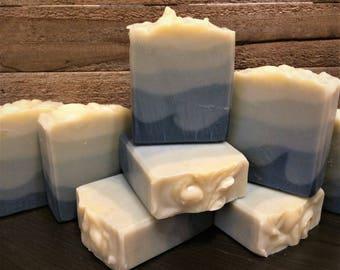 Ombre Indigo Soap, Geranium Essential Oil