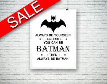 Wall Art Batman Digital Print Batman Poster Art Batman Wall Art Print Batman Kids Art Batman Kids Print Batman Wall Decor Batman