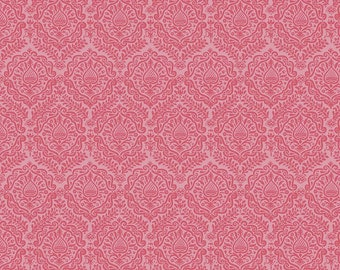 Pink Damask Fabric/ Pink Fabric/ Garden Girl Fabric/ Riley Blake Fabric/ Fabric by the Yard/ Cotton Fabric/ Girl Fabric