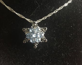 Girls Snowflake Necklace