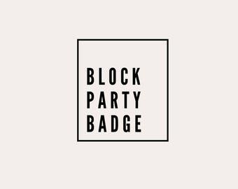 Block Party Badge - Logo Design
