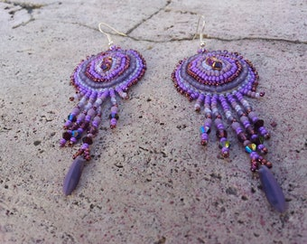 """Earrings embroidered """"Paloma"""""""