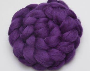 BFL Wool Combed Top Purple - Heritage Breed - 100 grams