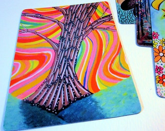 """Art Magnet Psychedelic Tree 3.5"""" x 5"""""""