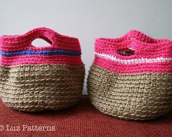 CROCHET PATTERN, crochet purse pattern, Instant Download, crochet basket pattern girls summer bag (139)
