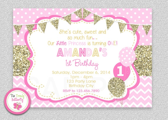 Pink and gold birthday invites gidiyedformapolitica pink and gold birthday invites filmwisefo Image collections