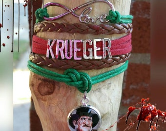 Infinity love Freddy Krueger bracelet