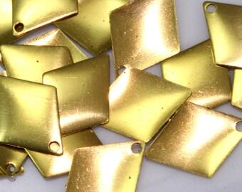 500 Pcs Raw Brass 12x17 mm diamond shape charms 1 loop Charms ,Findings 25R-200