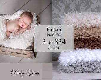 Faux Flokati Fur, Newborn Photography Props, Faux Fur Fabric, Newborn, Faux Fur Photography Prop, Newborn Photo Prop, Faux Fur Blanket