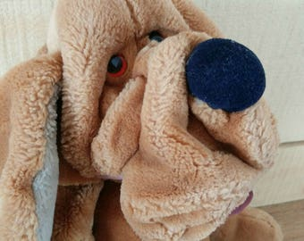 1980's heritage collection wrinkles stuffed toy, Dog plush, ganzbros, wrinkles dog, dog puppets, wrinkles puppets, dog lover, gift for kids