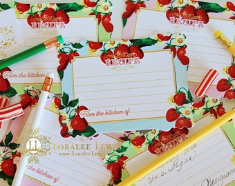 Berry Sweet Collection Recipe Cards by Loralee Lewis