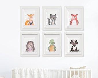 Forest Animals Set, Woodland Animals Set, Forest Friends, Woodland Nursery Set, Woodland Zoo|Forest Nursery|Forest Print|Forest Animal Theme