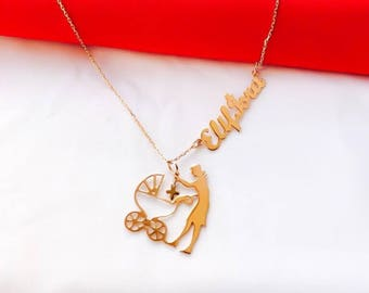 Rosegold--BABY NECKLACE. a perfect gift for a upcoming mother!