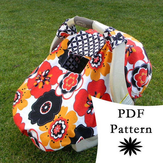 Fitted Car Seat Canopy With Peek A Boo Window PDF PATTERN TUTORIAL