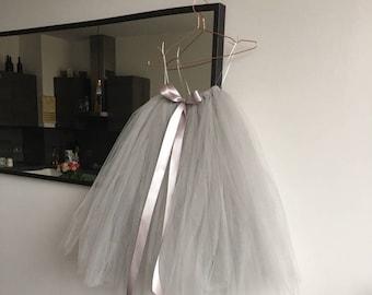 Grey Tutu, tutu, girls tutu, flower girl tutu, flower girl dress, bridesmaid tutu, adult tutu, wedding tutu, silver grey tutu, tulle skirt