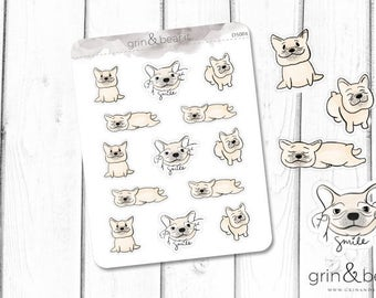 Frenchies Doodle Stickers (DS004)