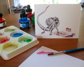 Frilled Lizard Card