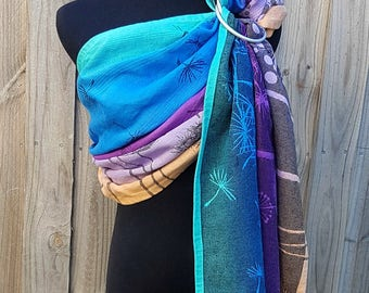 Wrap Conversion Ring Sling - Natibaby Dandelions Ethereal