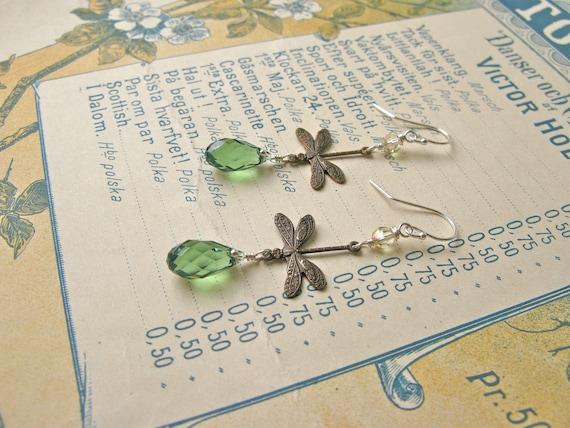 Garden earrings in green/...