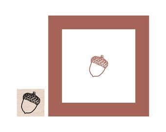 Mini Acorn Rubber Stamp