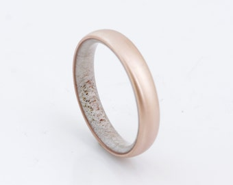 copper wedding band antler ring antler man ring engagement ring Antler wedding band