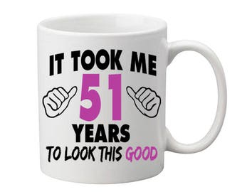 51 Years Old Birthday Mug Happy Birthday Gift Birthday Coffee Mug Coffee Cup Born in 1966 Personalized Mug ALL AGES AVAILABLE