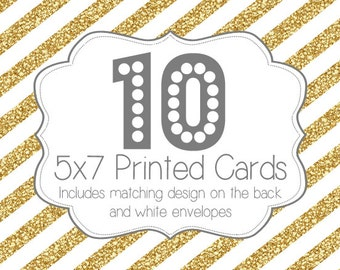 10 PRINTED INVITATIONS and white envelopes