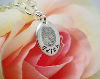 Fingerprint Pendant, Fingerprint Charm, Fingerprint jewellery, Fingerprint Keepsake, Personalised Jewellery, Gift for Her, Fingerprint