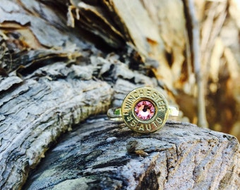 Southern Bullets. Bullet jewelry. Bullet ring. Winchester. Gifts for her. Guns. Handmade. Silver ring.  Country girl. Wedding. Bullets. Guns