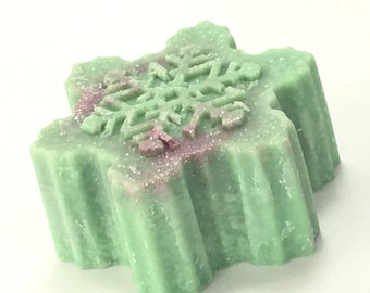 Apple Sage Salt Soap - Sea Salt Soap Bar - Cold Process Salt Soap - Fine Grain Salt Soap - Apple Soap - Snowflake Soap Salt Bar