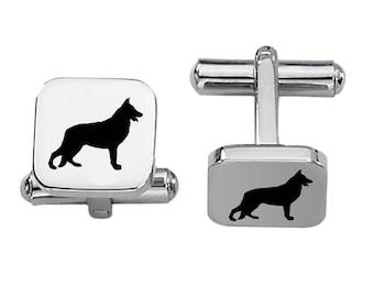 German Shepherd Cufflinks | Dog Cufflinks | Custom Cufflinks | Stainless Steel
