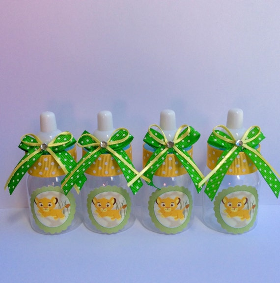 12 Small 3.5 Lion King Baby Shower Baby Bottles Lion