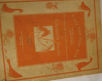 A vintage piano music sheets, 1939, A very first Piano Book