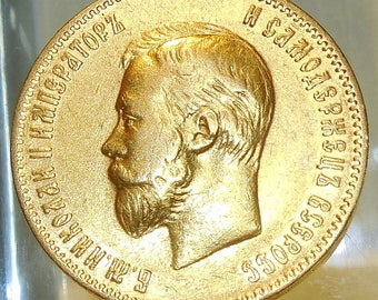 1901 russia 10 Roubles gold Coin souvenir with free case coin