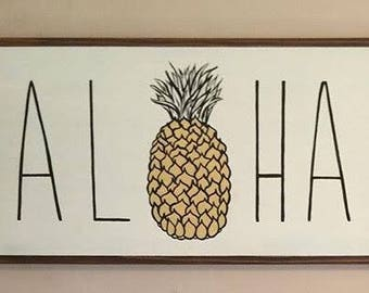 ALOHA Pineapple SIGN